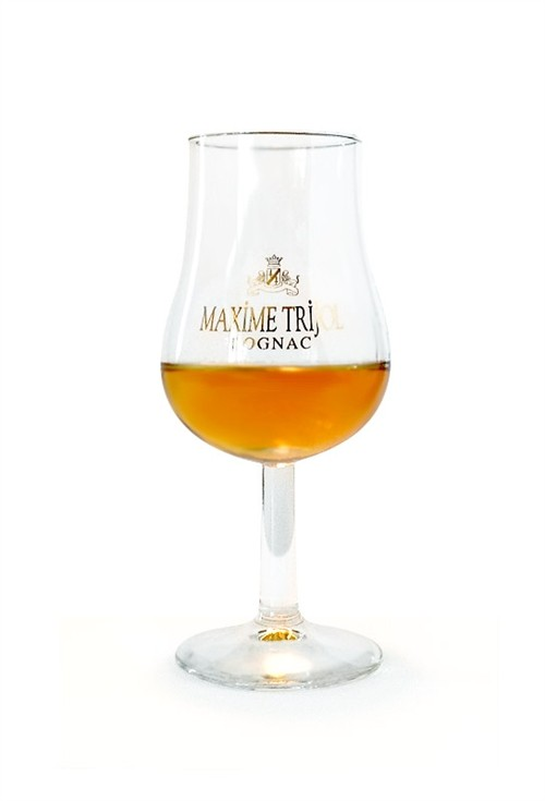 Tulip cognacglas med Maxime Trijol logo